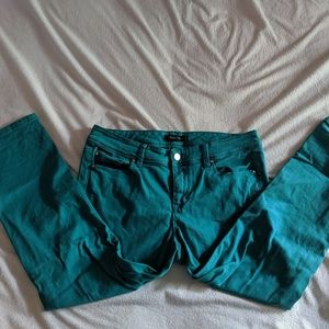 White House Black Market teal cropped pants, 27